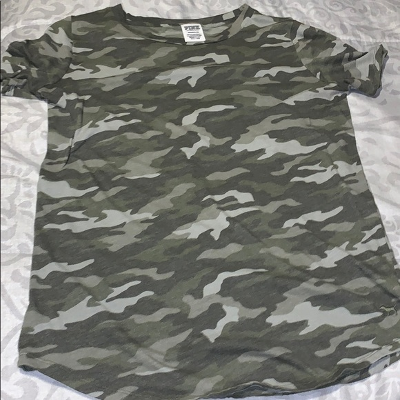 PINK Victoria's Secret Tops - Camo shirt
